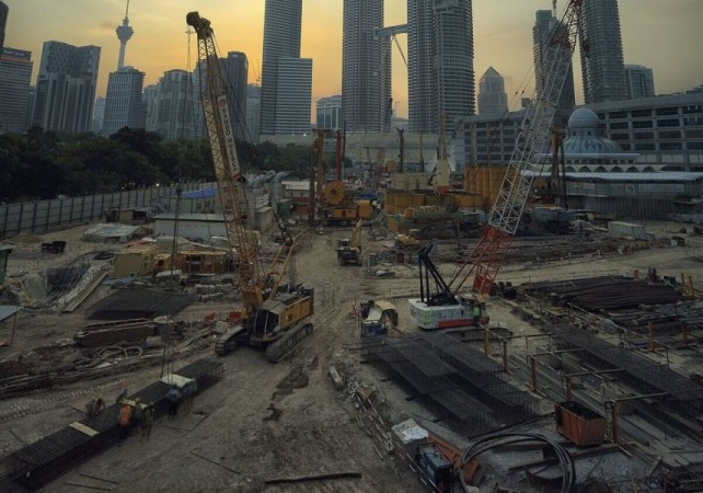 Building Site with Cranes and Plant